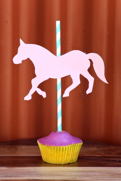 carousel cupcake